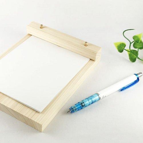 メモパッド 木製メモ用紙台