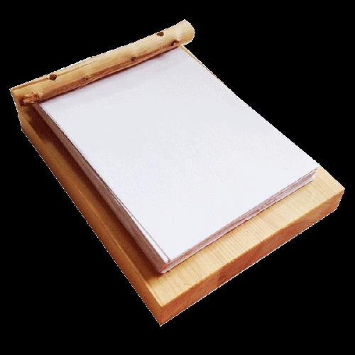 木製メモ用紙台