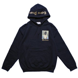WHO CARES Hoodie (NAVY)