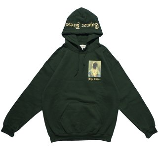 WHO CARES Hoodie (FOREST GREEN)