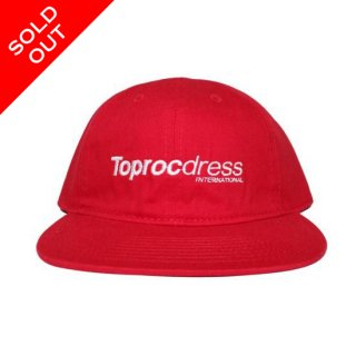 TEXT LOGO 6Pannel Cap (RED)