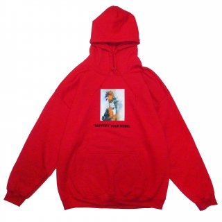 BURN Hoodie (CHERRY RED)