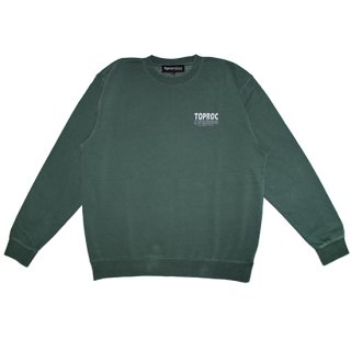<img class='new_mark_img1' src='//img.shop-pro.jp/img/new/icons5.gif' style='border:none;display:inline;margin:0px;padding:0px;width:auto;' />Fade logo Sweat shirt (PIGMENT GREEN)