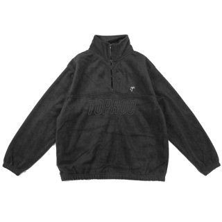 Relax logo Quarter Zip Fleece Shirt (BLACK)