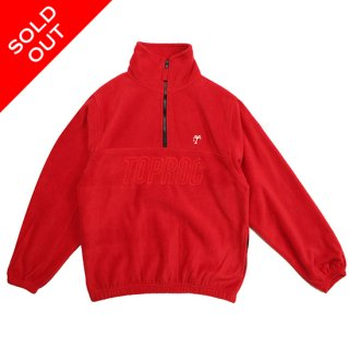 <img class='new_mark_img1' src='//img.shop-pro.jp/img/new/icons5.gif' style='border:none;display:inline;margin:0px;padding:0px;width:auto;' />Relax logo Quarter Zip Fleece Shirt (RED)