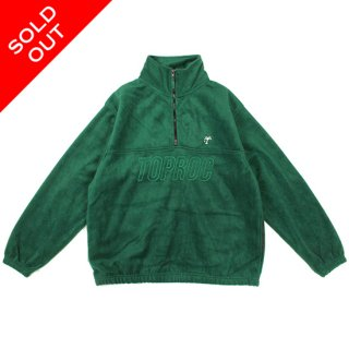 <img class='new_mark_img1' src='//img.shop-pro.jp/img/new/icons5.gif' style='border:none;display:inline;margin:0px;padding:0px;width:auto;' />Relax logo Quarter Zip Fleece Shirt (GREEN)