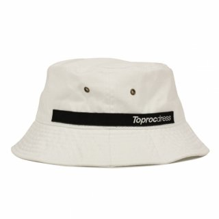 Text logo Bucket hat (WHITE)