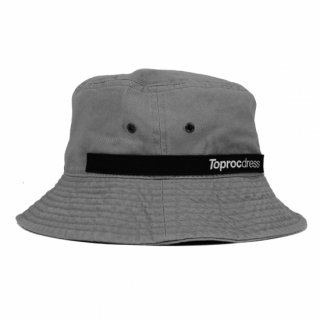 Text logo Bucket hat (GRAY)
