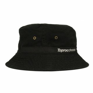 Text logo Bucket hat (BLACK)