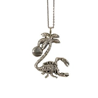 Scorpion-Logo Silver 925 Necklace