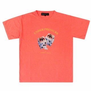 Dice Pigment Tee (NEON RED ORANGE)
