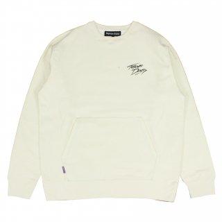 Relax-logo Sweatshirt (WHITE)