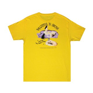 <img class='new_mark_img1' src='https://img.shop-pro.jp/img/new/icons5.gif' style='border:none;display:inline;margin:0px;padding:0px;width:auto;' />Ladies on the Sofa Tee (YELLOW)
