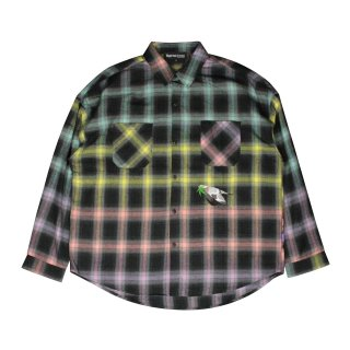 <img class='new_mark_img1' src='https://img.shop-pro.jp/img/new/icons5.gif' style='border:none;display:inline;margin:0px;padding:0px;width:auto;' />Bird's eye view Check shirt (YELLOW)