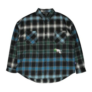<img class='new_mark_img1' src='https://img.shop-pro.jp/img/new/icons5.gif' style='border:none;display:inline;margin:0px;padding:0px;width:auto;' />Bird's eye view Check shirt (BLUE)