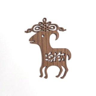 or015 リトアニア EtnoDesign 木製オーナメント 子羊のインスピレーション