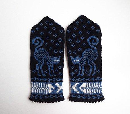 リトアニアの手編みミトン キッズサイズ...