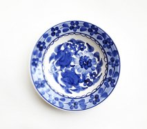 wl007 ポーランドのヴウォツワヴェク陶器 ヴィンテージ陶器 小皿15cm 飾り皿
