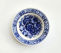 wl012 ポーランドのヴウォツワヴェク陶器 ヴィンテージ陶器 中皿17.5cm 飾り皿