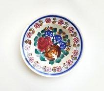 wl014 ポーランドのヴウォツワヴェク陶器 ヴィンテージ陶器 中皿17.5cm 飾り皿