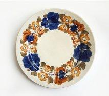 wl018 ポーランドのヴウォツワヴェク陶器 ヴィンテージ陶器 平皿大24cm 飾り皿