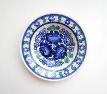 wl023 ポーランドのヴウォツワヴェク陶器 ヴィンテージ陶器 中皿17.5cm  飾り皿