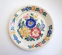 wl028 ポーランドのヴウォツワヴェク陶器 ヴィンテージ陶器 大皿24cm  飾り皿