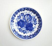 wl032 ポーランドのヴウォツワヴェク陶器 ヴィンテージ陶器 平皿19cm  飾り皿