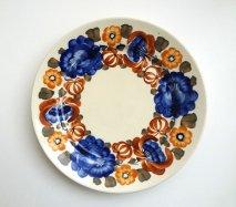 wl034 ポーランドのヴウォツワヴェク陶器 ヴィンテージ陶器 平皿24cm  飾り皿