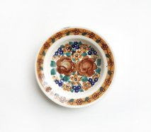 wl042 ポーランドのヴウォツワヴェク陶器 ヴィンテージ陶器 小皿15cm  飾り皿