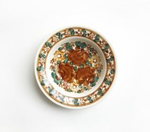 wl050 ポーランドのヴウォツワヴェク陶器 ヴィンテージ陶器 小皿15cm  飾り皿
