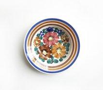 wl054 ポーランドのヴウォツワヴェク陶器 ヴィンテージ陶器 小皿15cm  飾り皿