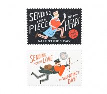 アメリカRifle Paper バレンタインのポストカード