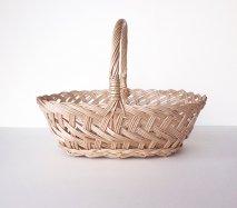 bs010 リトアニアのかご 透かし編みが美しい手編みかご チェック編みの果物かご