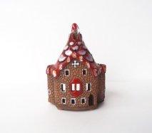 ch013 リトアニア キャンドルハウス カラフル屋根の石造りの教会