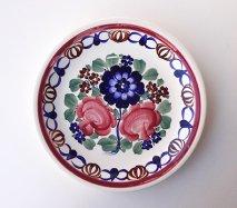 wl058 ポーランドのヴウォツワヴェク陶器 ヴィンテージ陶器 平皿24cm  飾り皿