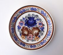 wl059 ポーランドのヴウォツワヴェク陶器 ヴィンテージ陶器 平皿24cm  飾り皿