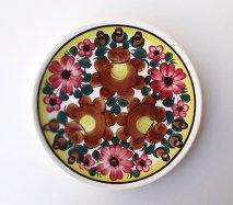 wl060 ポーランドのヴウォツワヴェク陶器 ヴィンテージ陶器 平皿24cm  飾り皿