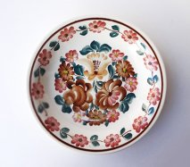wl061 ポーランドのヴウォツワヴェク陶器 ヴィンテージ陶器 パスタ皿24cm  飾り皿