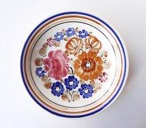 wl062 ポーランドのヴウォツワヴェク陶器 ヴィンテージ陶器 パスタ皿24cm  飾り皿
