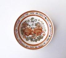 wl064 ポーランドのヴウォツワヴェク陶器 ヴィンテージ陶器 中皿17.5cm  飾り皿