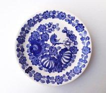 wl066 ポーランドのヴウォツワヴェク陶器 ヴィンテージ陶器 平皿24cm  飾り皿