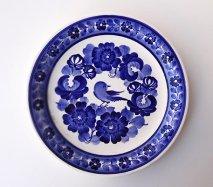wl067 ポーランドのヴウォツワヴェク陶器 ヴィンテージ陶器 平皿24cm  飾り皿