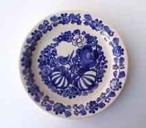 wl068 ポーランドのヴウォツワヴェク陶器 ヴィンテージ陶器 平皿24cm  飾り皿
