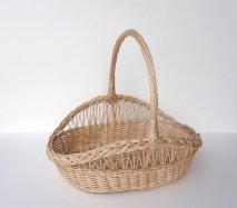 bs019 リトアニアのかご 透かし編みが美しい手編みかご 持ち手のある大きめサイズのかご カゴ 籠