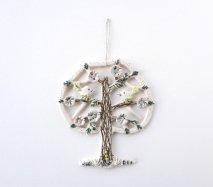 リトアニア 木に集う小鳥たち 陶器の壁飾り 壁掛け