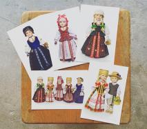 リトアニア 独立100周年記念 民族衣装の人形ポストカード