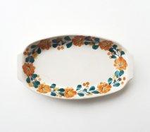 wl076 ポーランドのヴウォツワヴェク陶器 ヴィンテージ陶器 グラタン皿