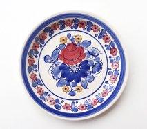 wl092 ポーランドのヴウォツワヴェク陶器 ヴィンテージ陶器 平皿24cm 飾り皿