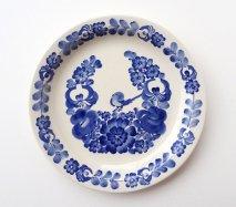 wl093 ポーランドのヴウォツワヴェク陶器 ヴィンテージ陶器 平皿24cm 飾り皿